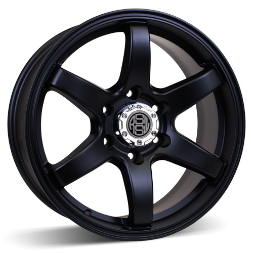 RSSW Roues en alliage AGM868TMB DIRECT 18X8 6-51/2 30/78.1 Noir mat