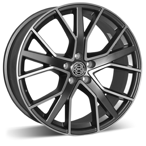 RSSW Roues en alliage AZZ751QGMF DIRECT 17X7.5 5-114.3 42/67.1 Anthracite face machinée